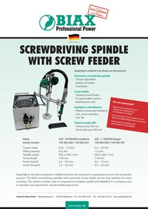 Screwdriving spindles with screw feeder